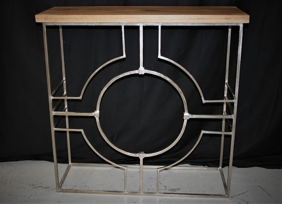 Iron console wood top