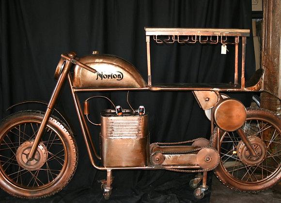Man cave bar/leaner Norton motorcycle