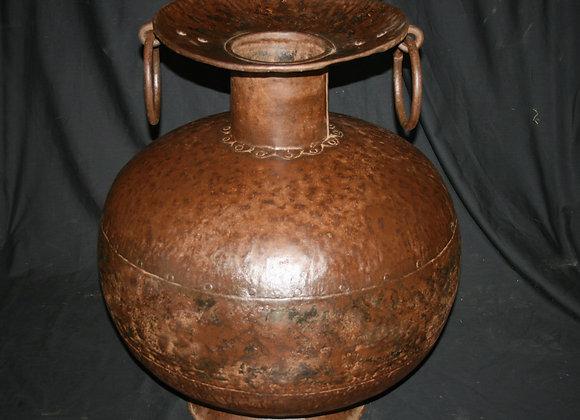 large iron pot