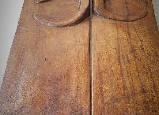 Naga carved door