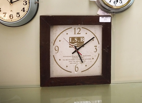 salvaged international shipping bureau clock