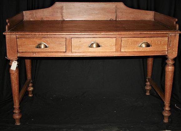 Rustic teak writing desk