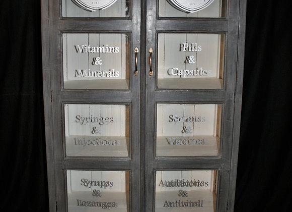 teak apothecary cabinet