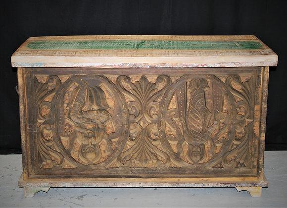 Carved teak box