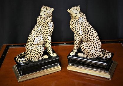 Ceramic Cheeta bookends 100767