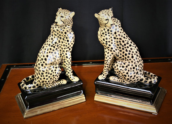 Ceramic Cheeta Bookends