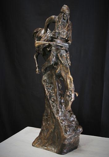 LG bronze mountain man Frederick Remingt