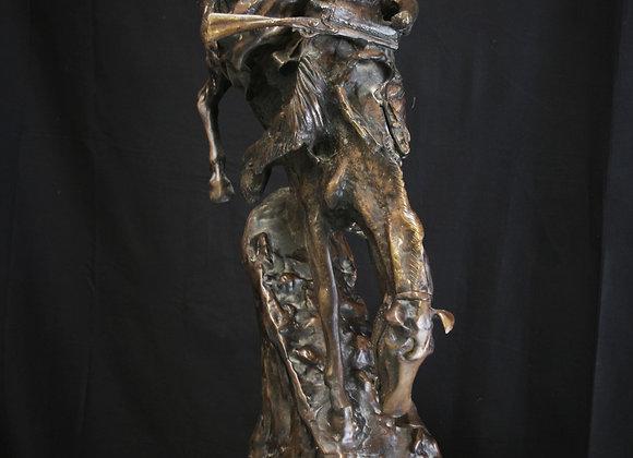 LG Bronze mountain man Fredrick Remington