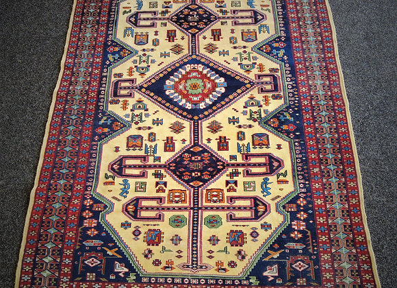 hand knotted rug from Kazakhstan