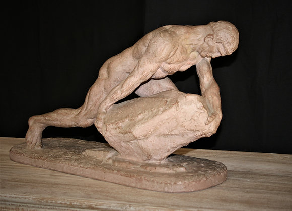 Sysyphe et son clay sculpture