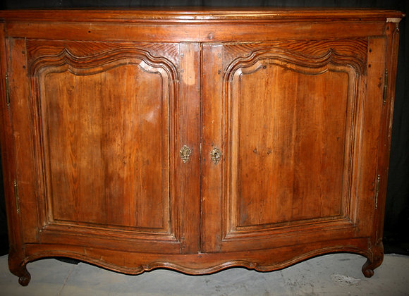 Louis 15th Bow fronted Oak cabinet