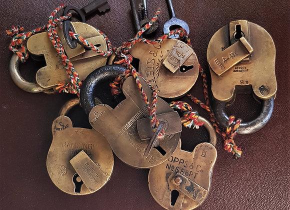 antique brass locks