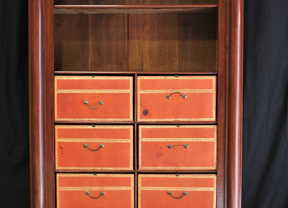 French , red drawer cartonnier