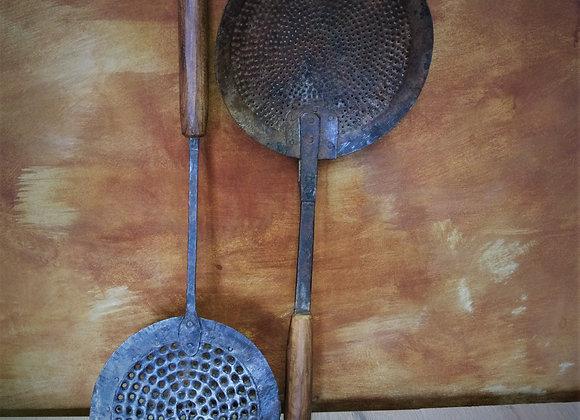 wood iron ladels