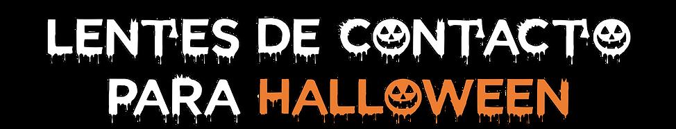 texto lentes de contacto para halloween.