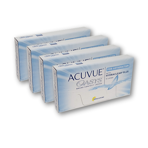 ACUVUE OASYS FOR ASTIGMATISM 4 CAJAS