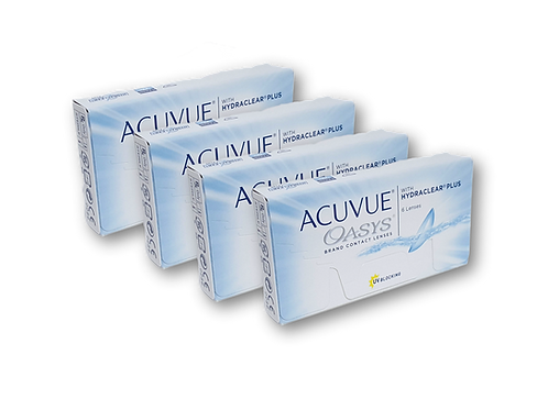 ACUVUE OASYS - HYDRACLEAR PLUS - 4 CAJAS