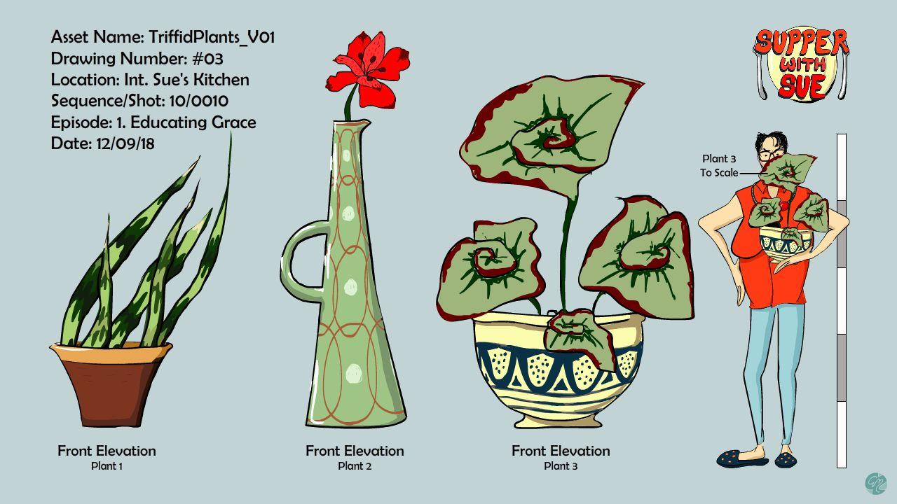 Triffid Plants Model Sheet