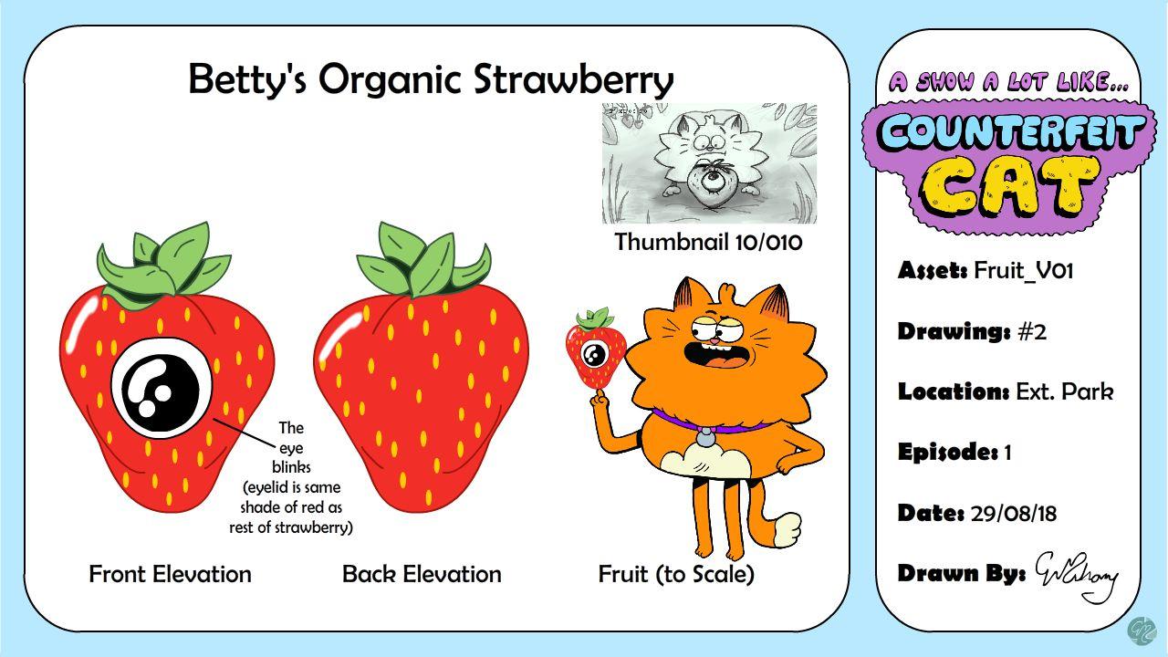'Organic' Strawberry Model Sheet