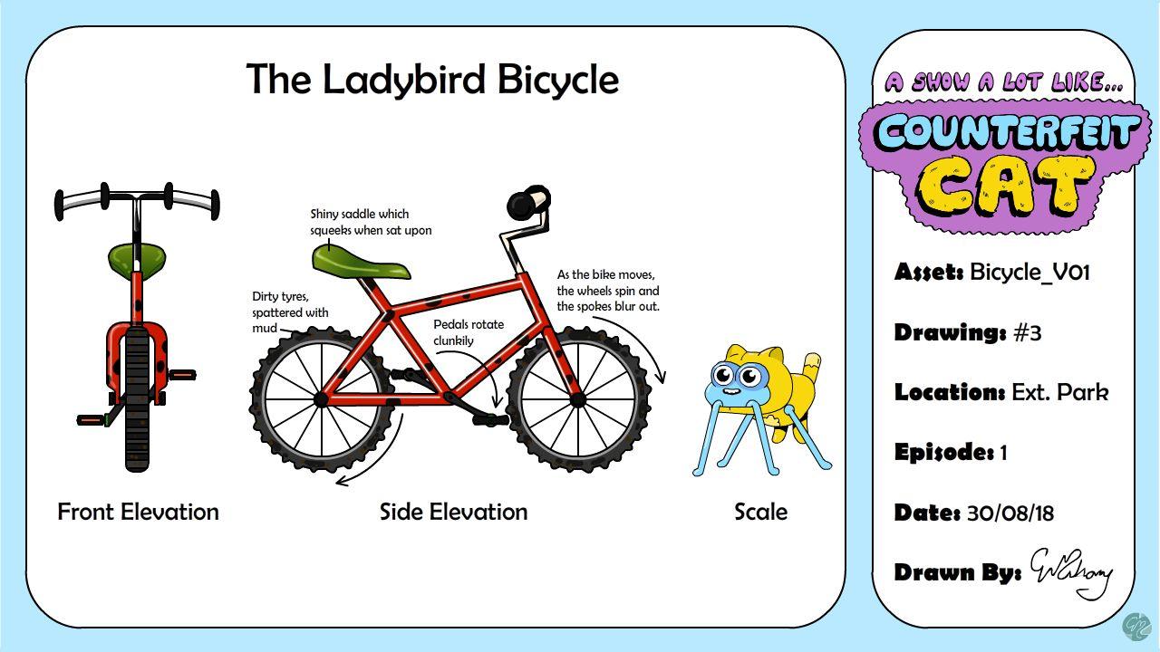 Ladybird Bicycle Model Sheet