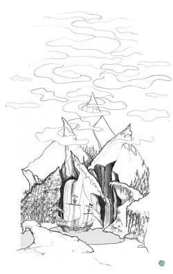 Initial Sketch of Lagoon (Peter Pan)