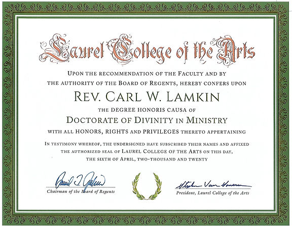 LAUREL COLLEGE OF THE ARTS DD DEGREE.jpg