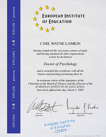 Diploma European Institute Blue (US Lett