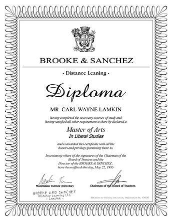Diploma Brooke & Sanchez (US Letter) Lon