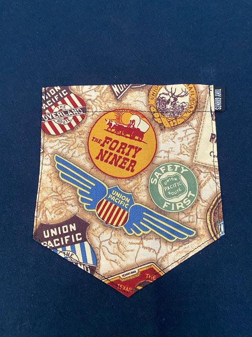 Tiny Giants Pocket T-Shirt Union Pacific -Navy