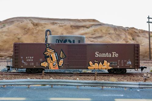 Soak Santa Fe 60' Boxcar Ho Scale