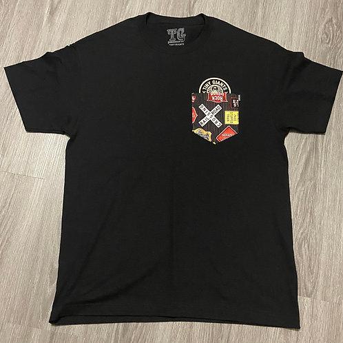 """Tiny Giants """"Pocket Peeper"""" T-Shirt -Vintage Logos"""