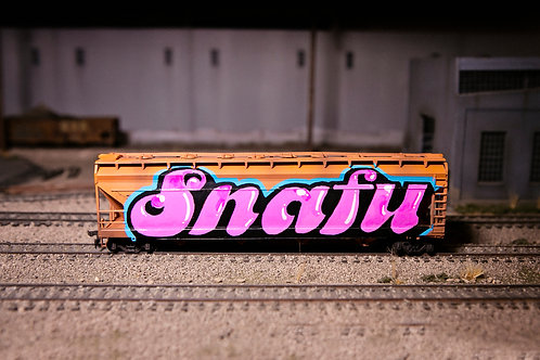 Snafu 56' Ho Scale Santa Fe Hopper