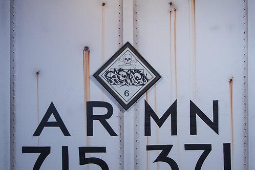 Asahe Vintage Chessie Systems Hazard Warning Sign