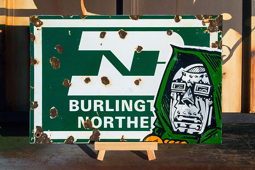 Vintage Burlington Northern Sign by Snafu