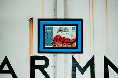 Glue Vintage Seatrain RR Stock Certificate