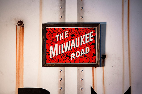 Mber Milwaukee Road  Sign