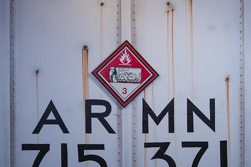 Hamer Vintage Chessie Systems Hazard Warning Sign