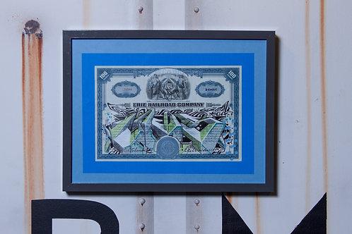 Cogs Vintage Erie RR Stock Certificate
