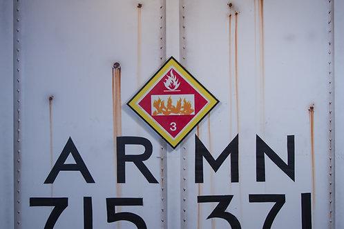 Hybrid Vintage Chessie Systems Hazard Warning Card