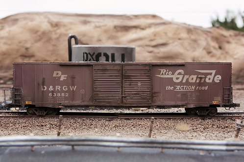 Rio Grande 60' Boxcar Ho Scale
