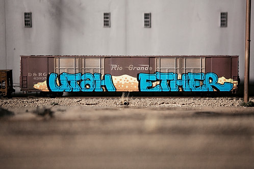Utah Ether 86' Auto Parts Boxcar Ho Scale