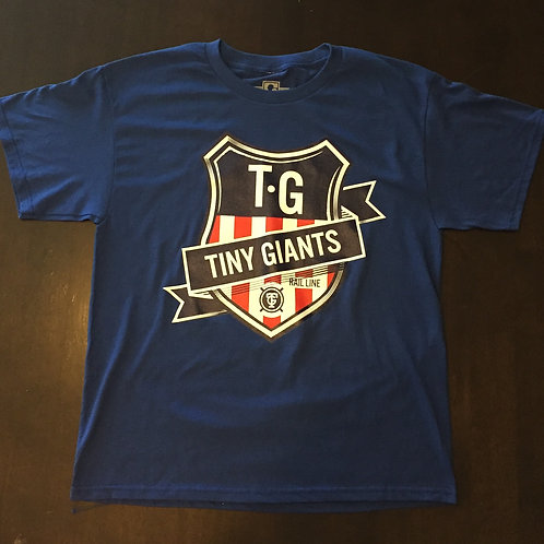Tiny Giants Shield T-Shirt --Dodger Blue