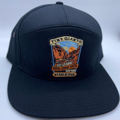 Tiny Giants/WRBT Rio Grande 7 Panel Strapback Hat -Black