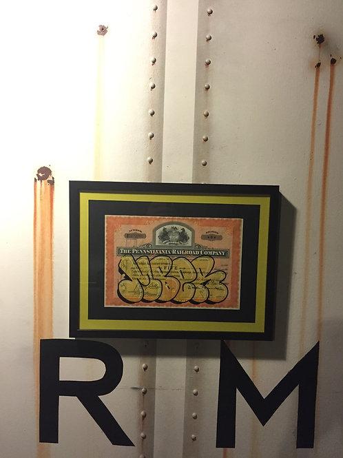 Mber Vintage Penn RR Stock Certificate