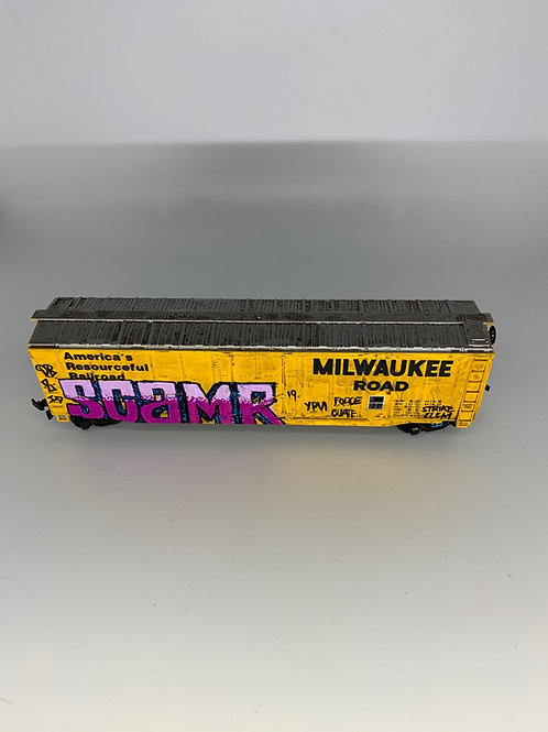 Scam Milwaukee Road 50' Boxcar HO Scale