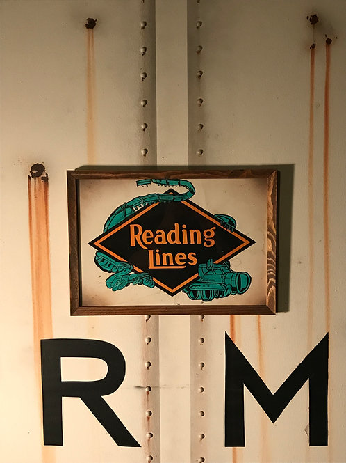 Uter Reading Railroad Sign