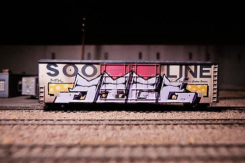 Jigl 60' Ho Scale Soo Line Boxcar