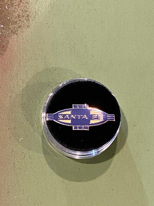 Santa fe Railroad Blue Badge Pin