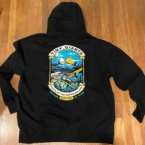 TG X WRBT Route Of The Empire Builder Hoddie -Black