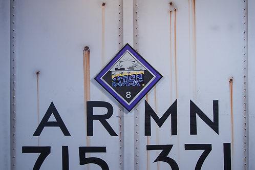 Jasf Vintage Chessie Systems Hazard Warning sign